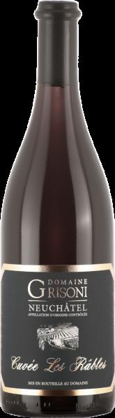 Les Râbles Pinot Noir Neuchâtel AOC Domaine Grisoni Cressier MO 2018 (Inhalt 75 cl)