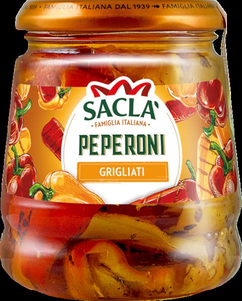 Gegrillte rote und gelbe Peperoni (Inhalt 290 g)