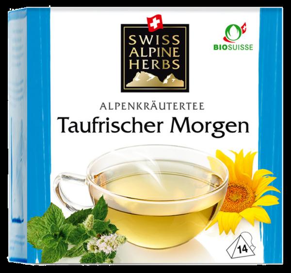 Bio Tee Swiss Alpine Herbs Taufrischer Morgen (Inhalt 14 g)