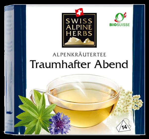 Bio Tee Swiss Alpine Herbs Traumhafter Abend (Inhalt 14 g)