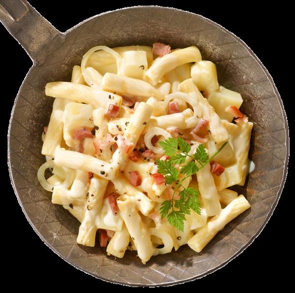 Älplermagronen mit Kartoffeln und Speck gekocht (Inhalt 390 g)