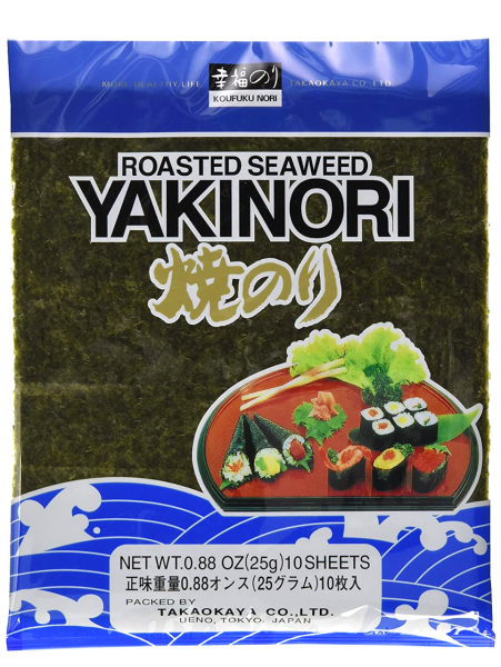 Getrocknete Algenblätter Yakinori 20x20cm (Inhalt 25 g)