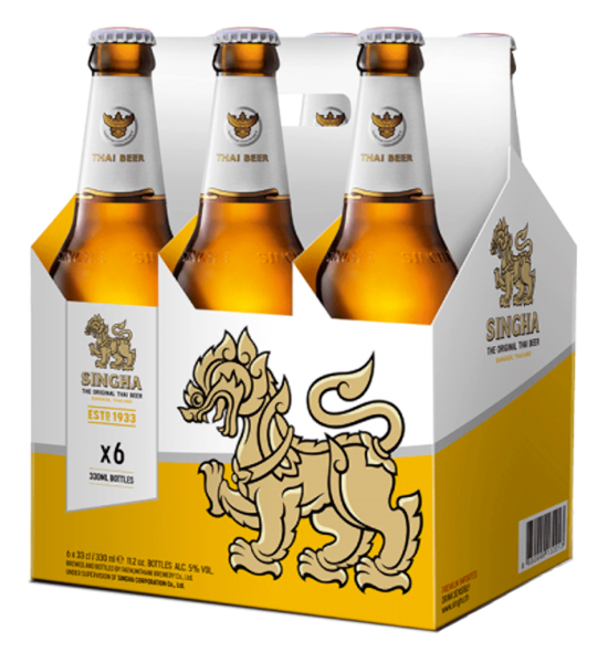Singha Bier 6er Pack (Inhalt 6x33 ml)