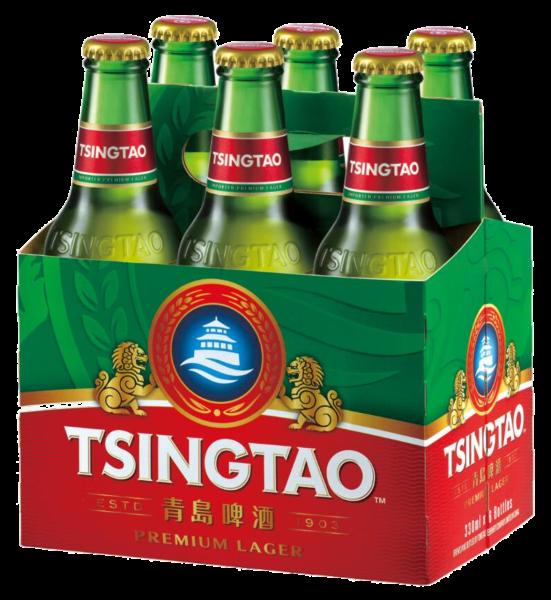 Tsingtao Bier 6er Pack (Inhalt 6x330 ml)