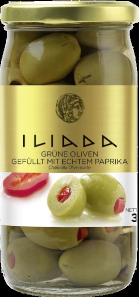Olive grün mit echtem Paprika (Inhalt 215 g)
